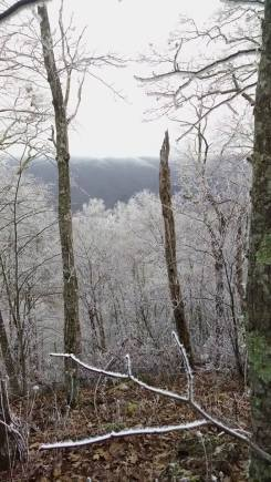 Hiking in an ice storm!