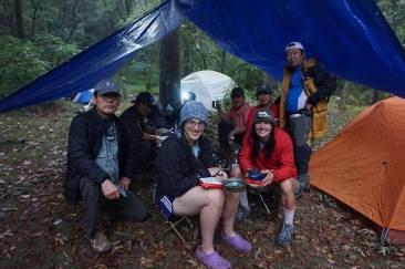 Trail magic at a shelter and meeting Athena