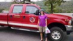 Vernon fire dept escort to July 4 fireworks