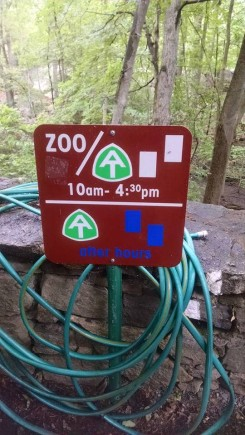 Lowest point on the AT takes you through Bear Mountain zoo