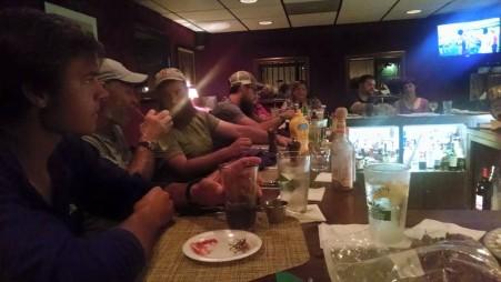 Bar full of hikers