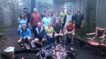Trail magic on a rainy night at 501 shelter